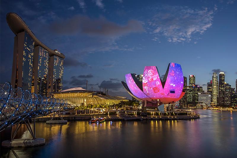 موزه ی هنر و علم سنگاپور