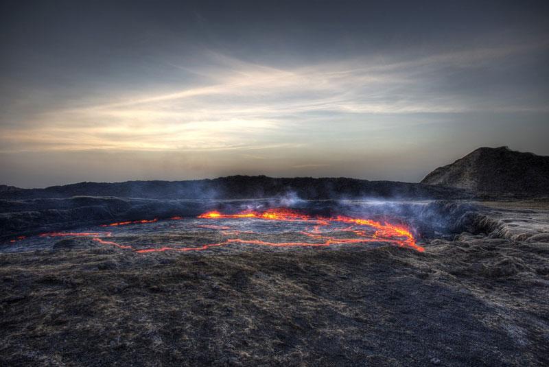 آتشفشان ارتا الی در اتیوپی