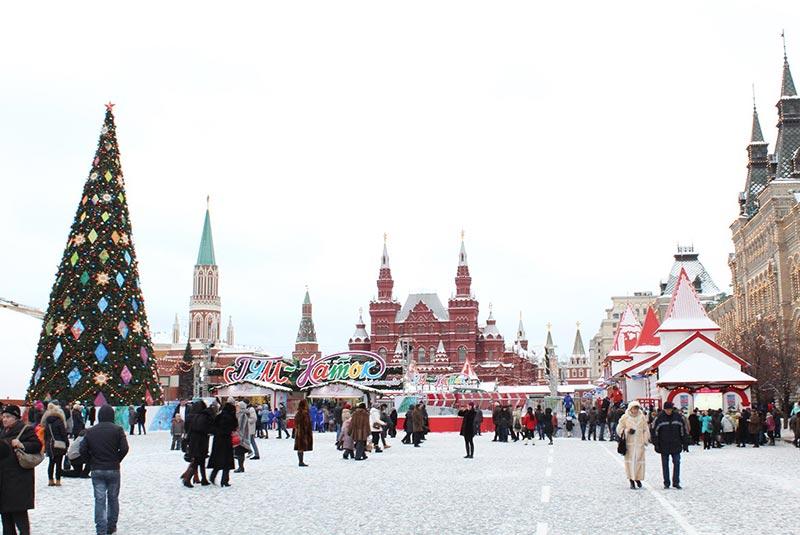 کریسمس در مسکو روسیه