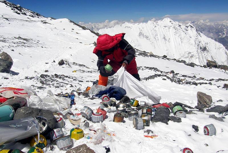 جمع آوری زباله های هیمالیا