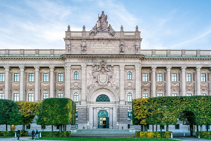 ساختمان پارلمان سوئد در استکهلم
