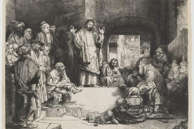 موعظه مسیح رمبرانت