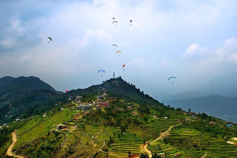 تپه سارانگکوت در نپال
