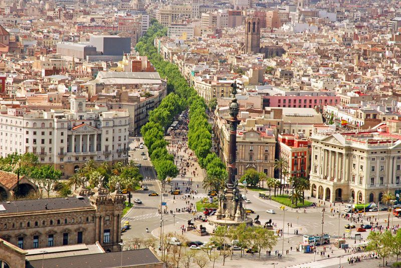 خیابان لارامبلا بارسلونا