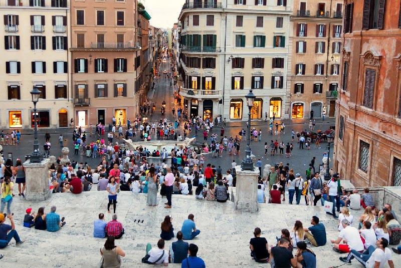 پلههای اسپانیایی رم