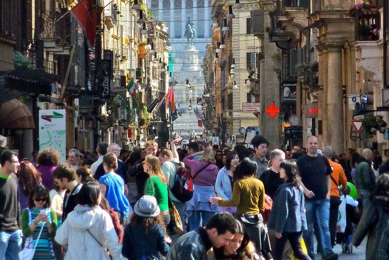 خیابان ویا دل کورسو رم