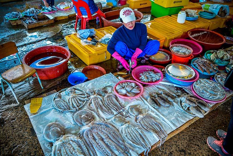بازار ماهی فروشان سئول | کره جنوبی