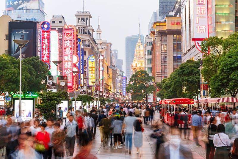 خیابان نانجینگ شانگهای در چین