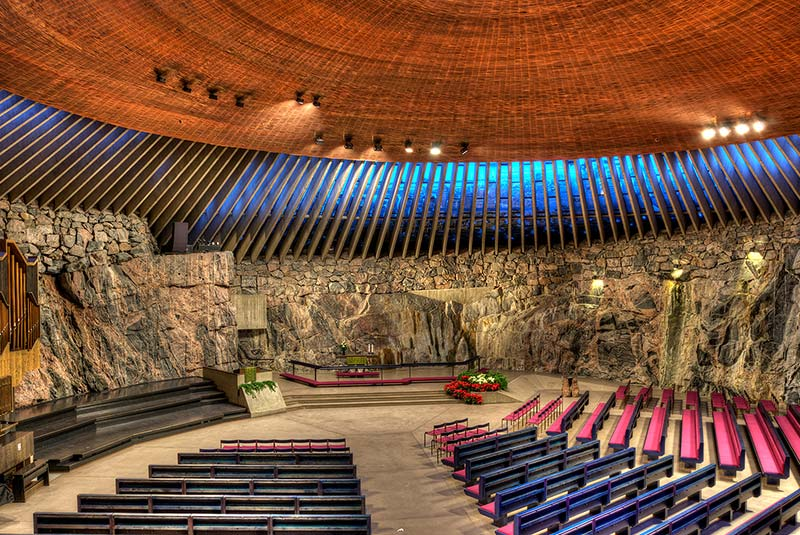 کلیسای سنگی هلسینکی - فنلاند