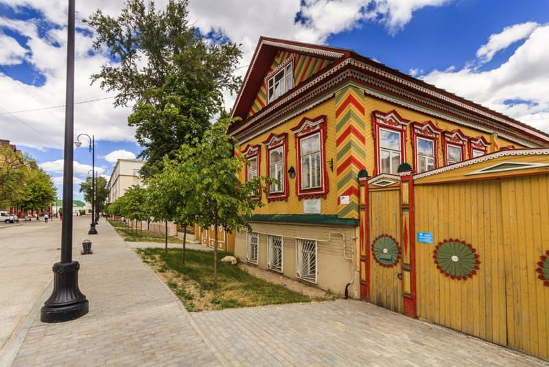 محله قدیمی تاتارها در کازان روسیه