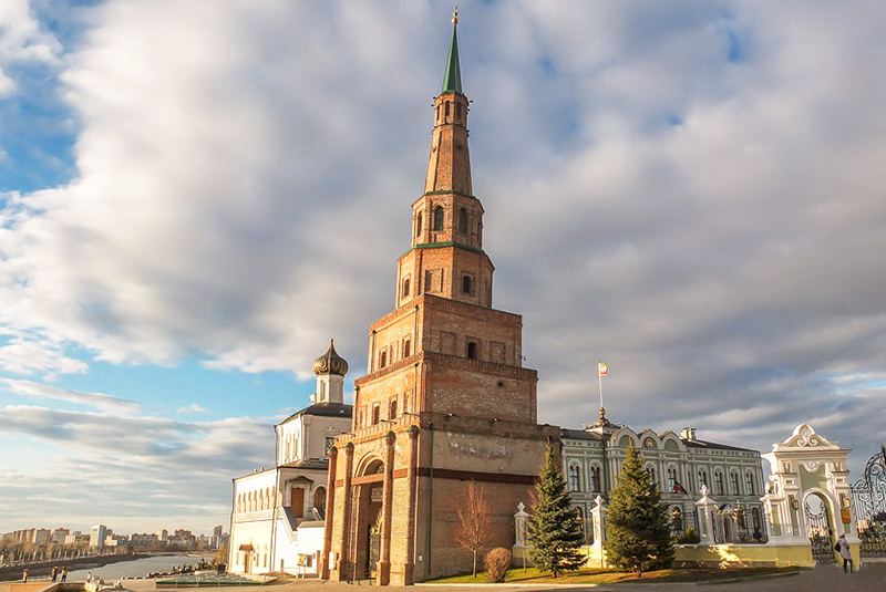 برج سویومبیکه در کازان روسیه