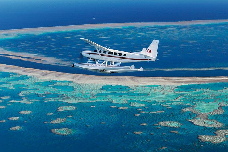 زیباترین مسیرهای پروازی - دیواره مرجانی استرالیا