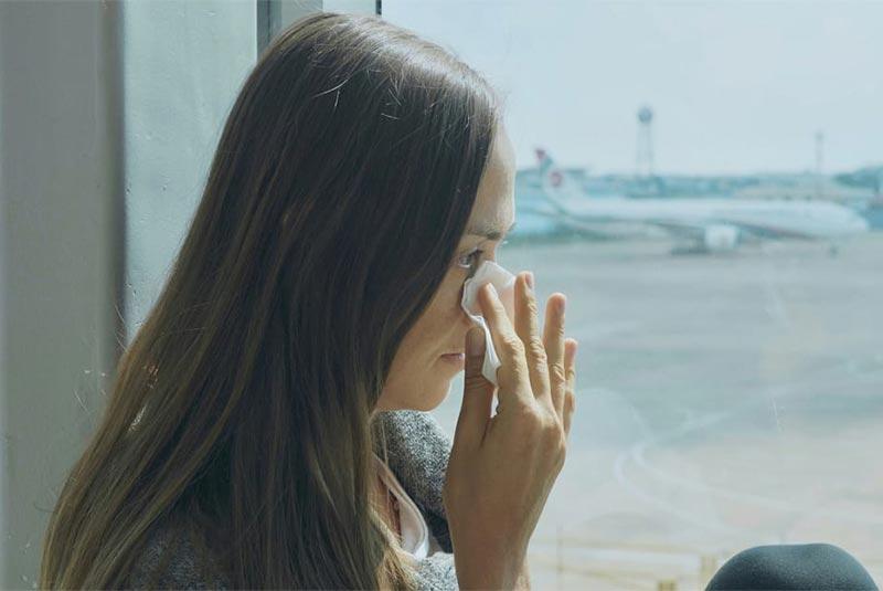 گریه کردن در هواپیما