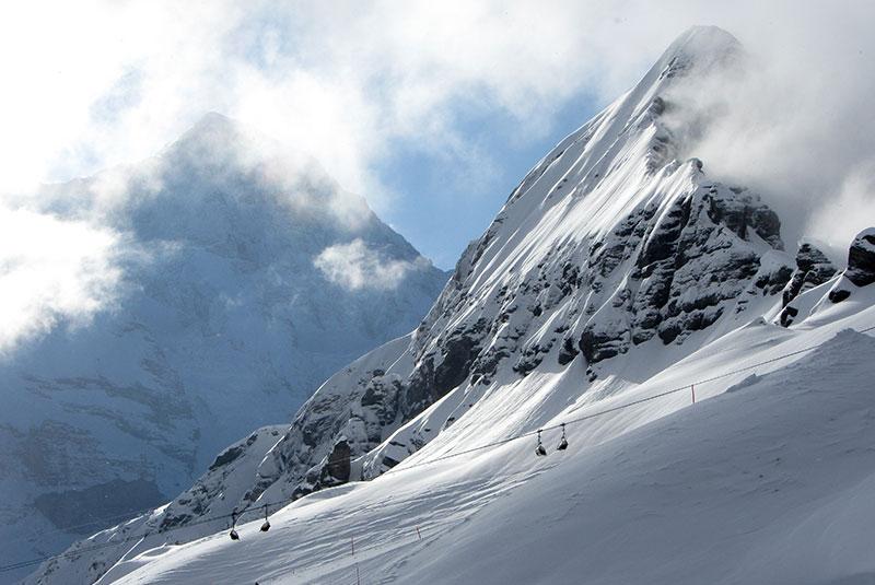دامنه های برفی سوئیس