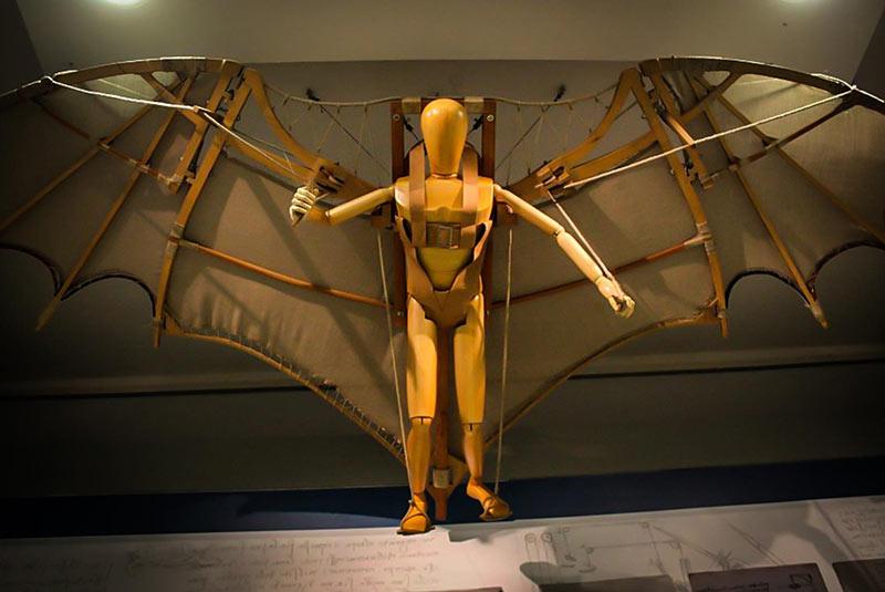 ماشین پرنده لئوناردو داوینچی