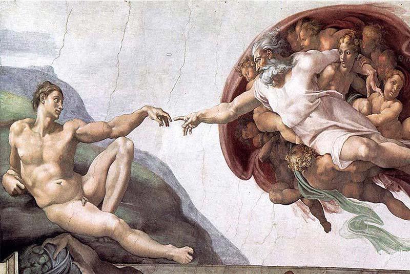 خلقت آدم - سبک منریسم