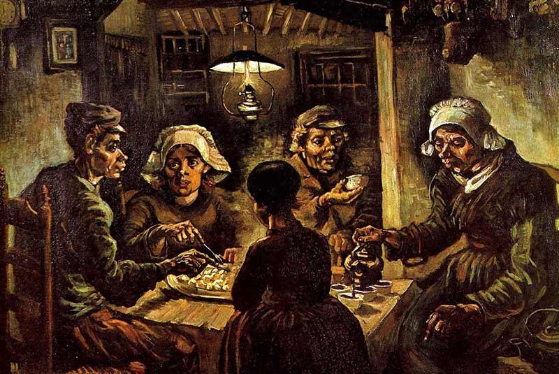 تابلوی سیب زمینی خواران - ونگوگ
