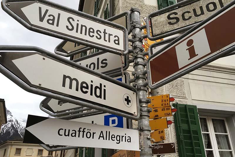 رومانش، زبان سوئیسی