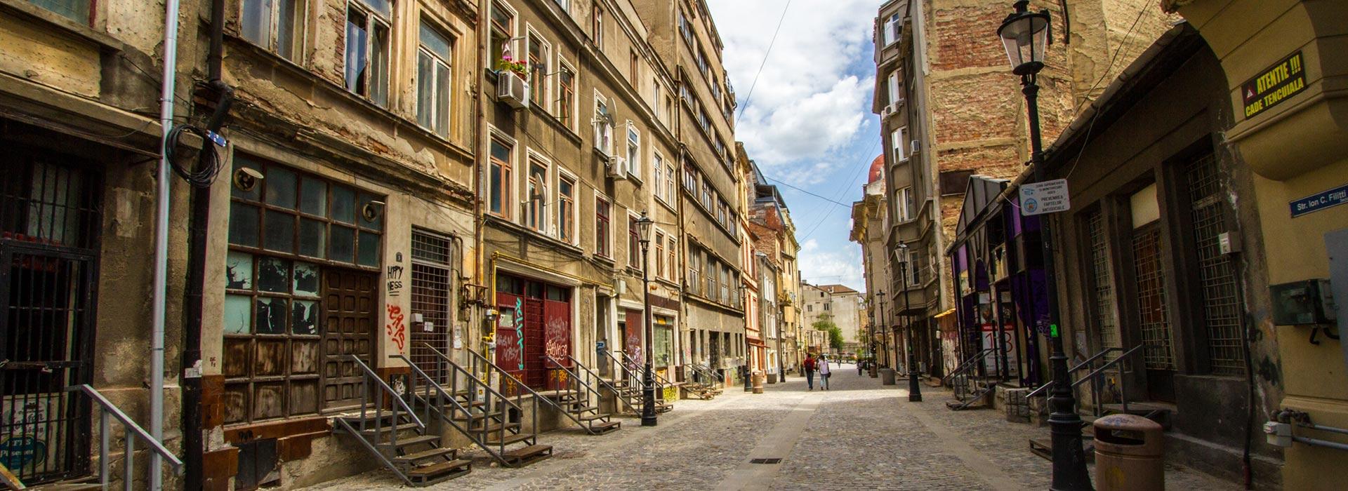نتیجه تصویری برای محله قدیمی بخارست