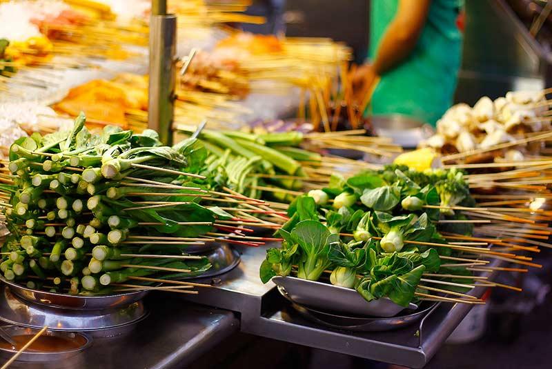 غذای خیابانی کوالالامپور