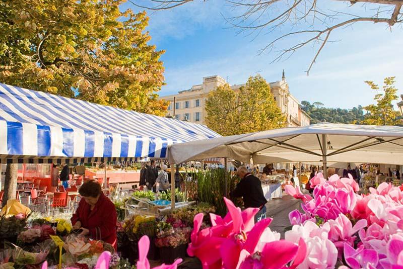 بازار گل کور سالیا در نیس فرانسه