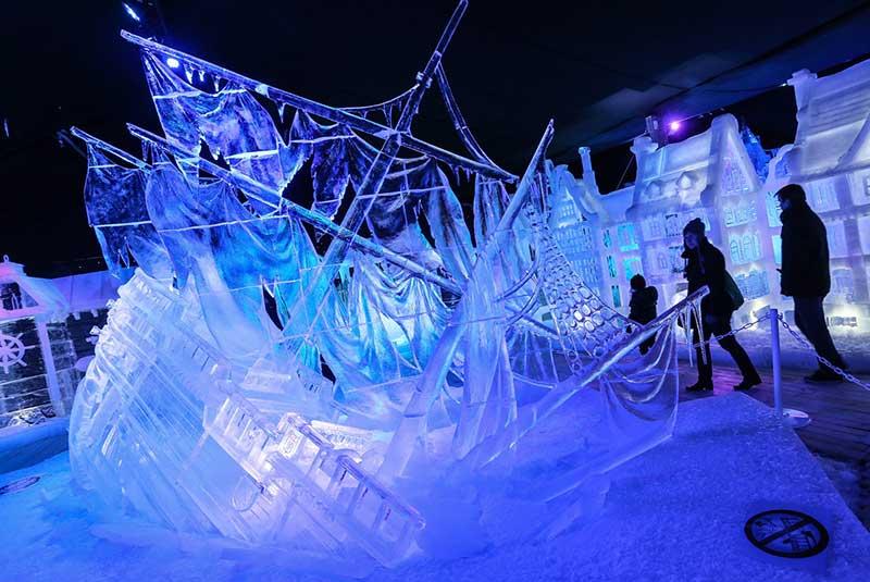 فستیوال مجسمه های یخی در شهر بروژ بلژیک