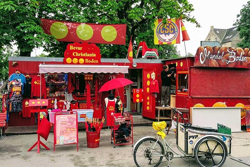 سوغاتی فروشی در کریستیانیا