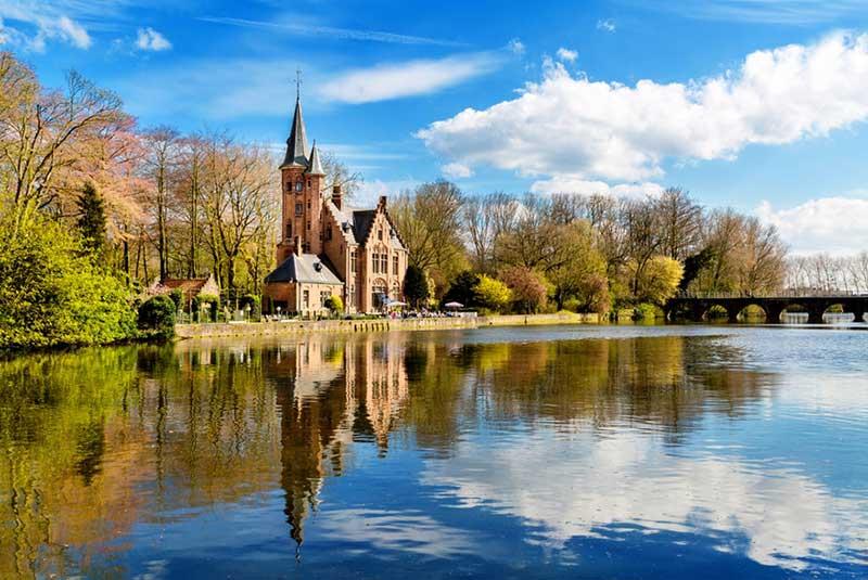 دریاچه مینواتر در شهر بروژ بلژیک