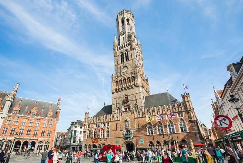 برج ناقوس در شهر بروژ بلژیک