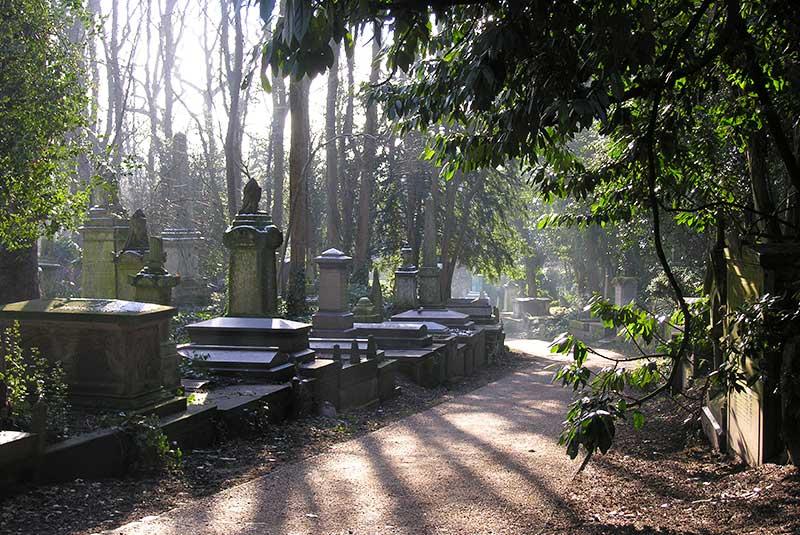 قبرستان های گیت، انگلیس