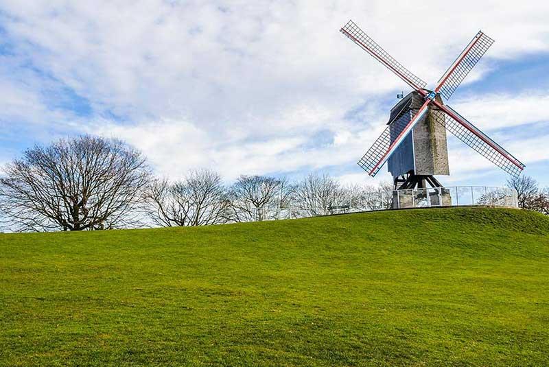آسیاب بادی های شهر بروژ بلژیک