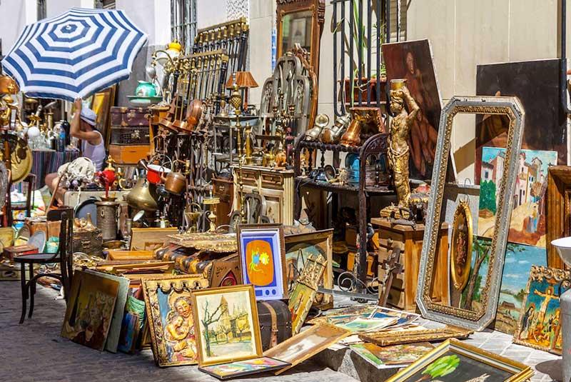 مراکز خرید ارزان مادرید - بازار عتیقه ال راسترو
