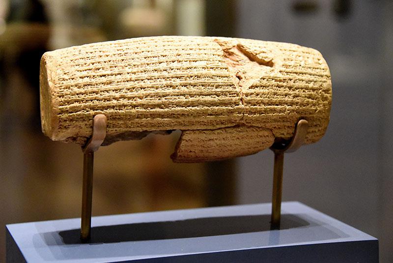 موزه بریتانیا در لندن - منشور کوروش