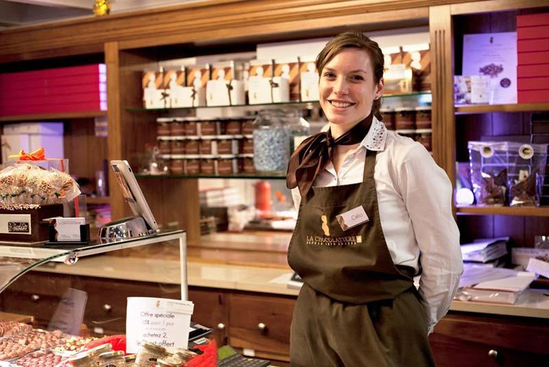 شکلات فروشی لا شکلاتیر در لوزان
