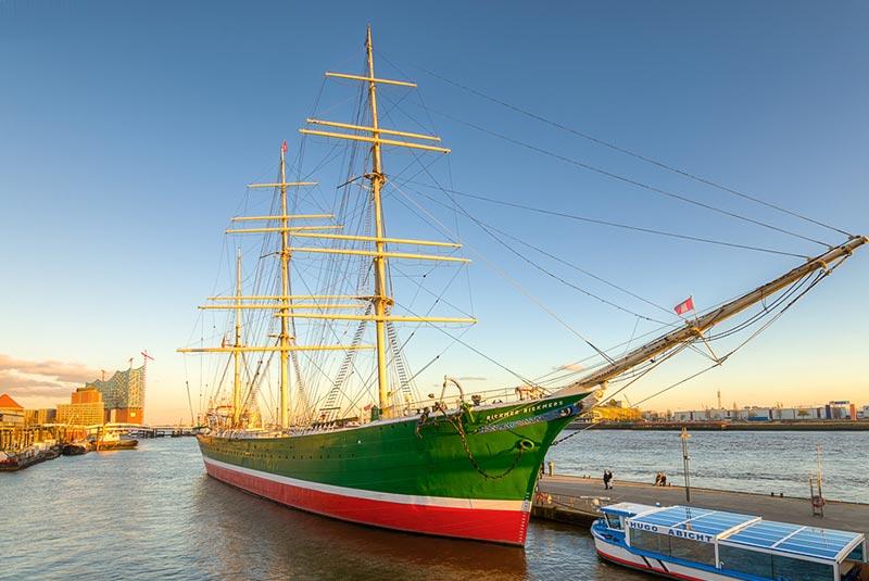 کشتی ریکمر ریکمرز در هامبورگ
