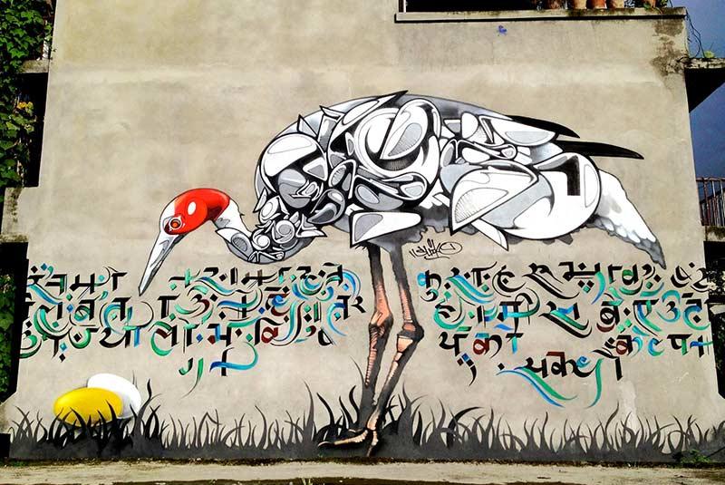 هنر خیابانی در کاتماندو نپال