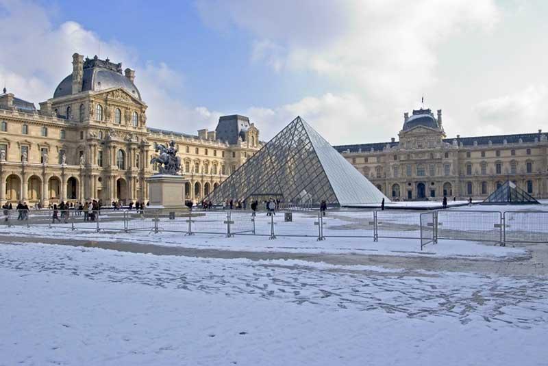 پاریس در زمستان - موزه لوور