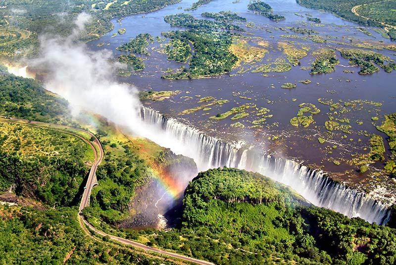 آبشارهای ویکتوریا در آفریقا