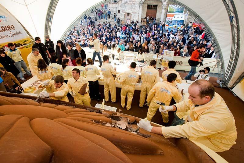 فستیوال یوروچاکلت در پروجا در ایتالیا