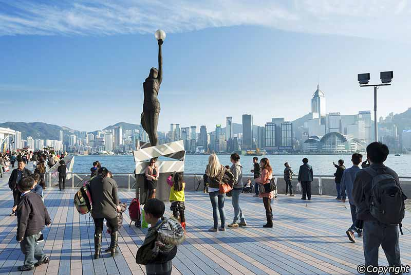 خیابان ستارگان در هنگ کنگ