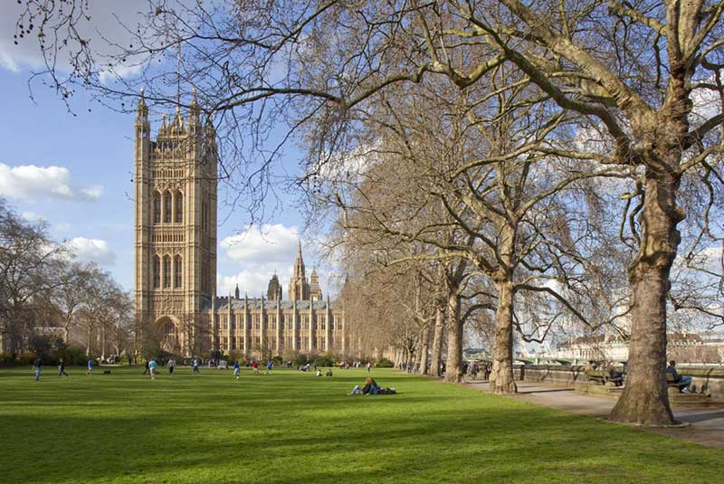 باغهای برج ویکتوریا در لندن