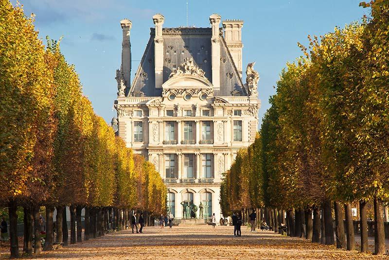 باغ تویلری در پاریس در پاییز