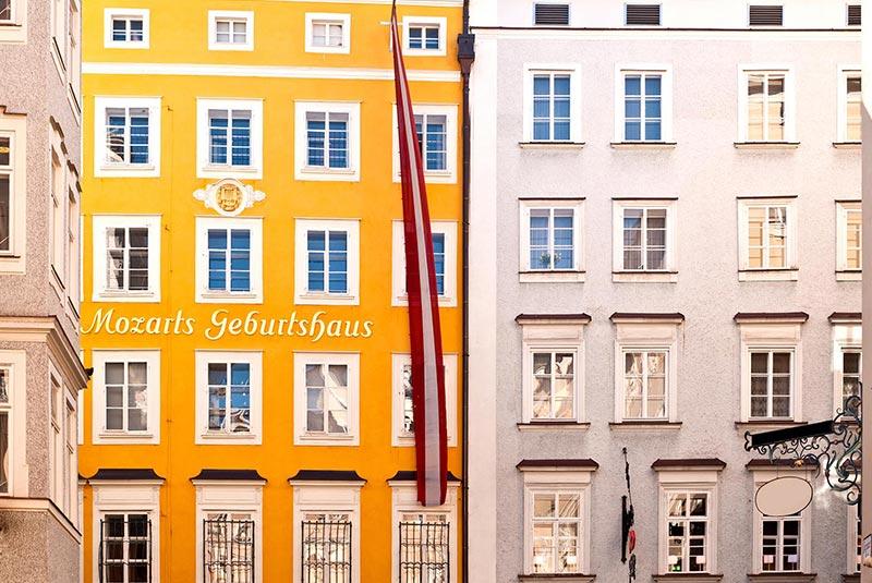 محل تولد موتزارت در سالزبورگ
