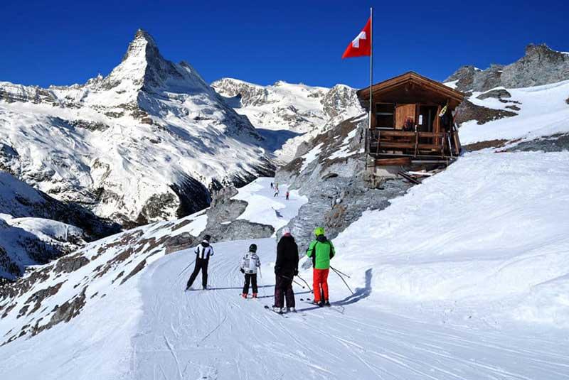 سوئیس در زمستان
