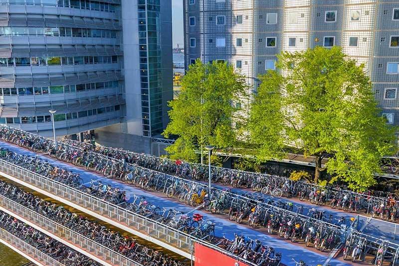 آداب دوچرخه سواری در آمستردام
