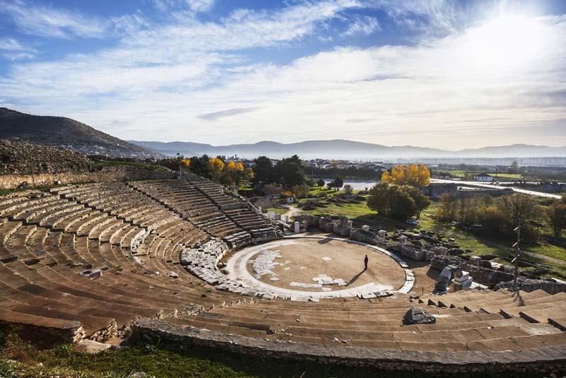 تئاتر باستانی فیلیپی در یونان