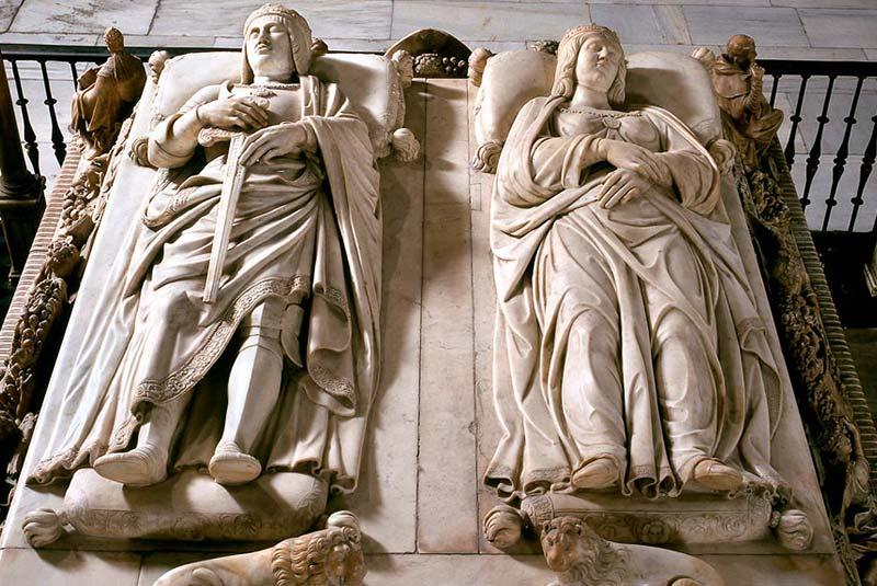 شاه فردیناند و ملکه ایزابل در کلیسا گرانادا