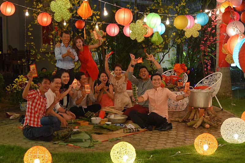 جشن شب عید تت در هانوی