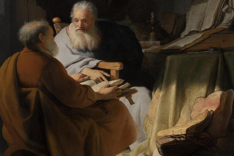 تابلوی بحث پیتر و پل، رامبراند