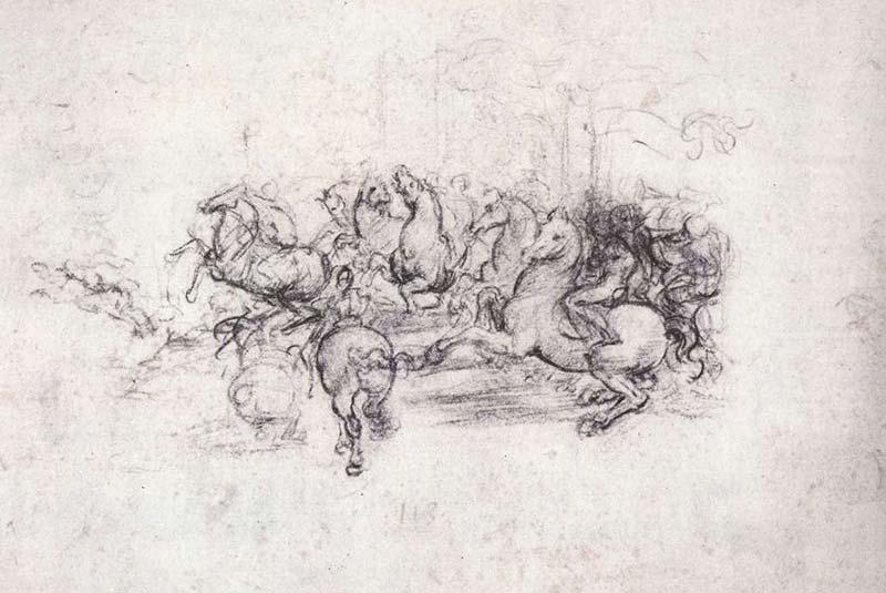 لئوناردو داوینچی - نبرد آنگیاری